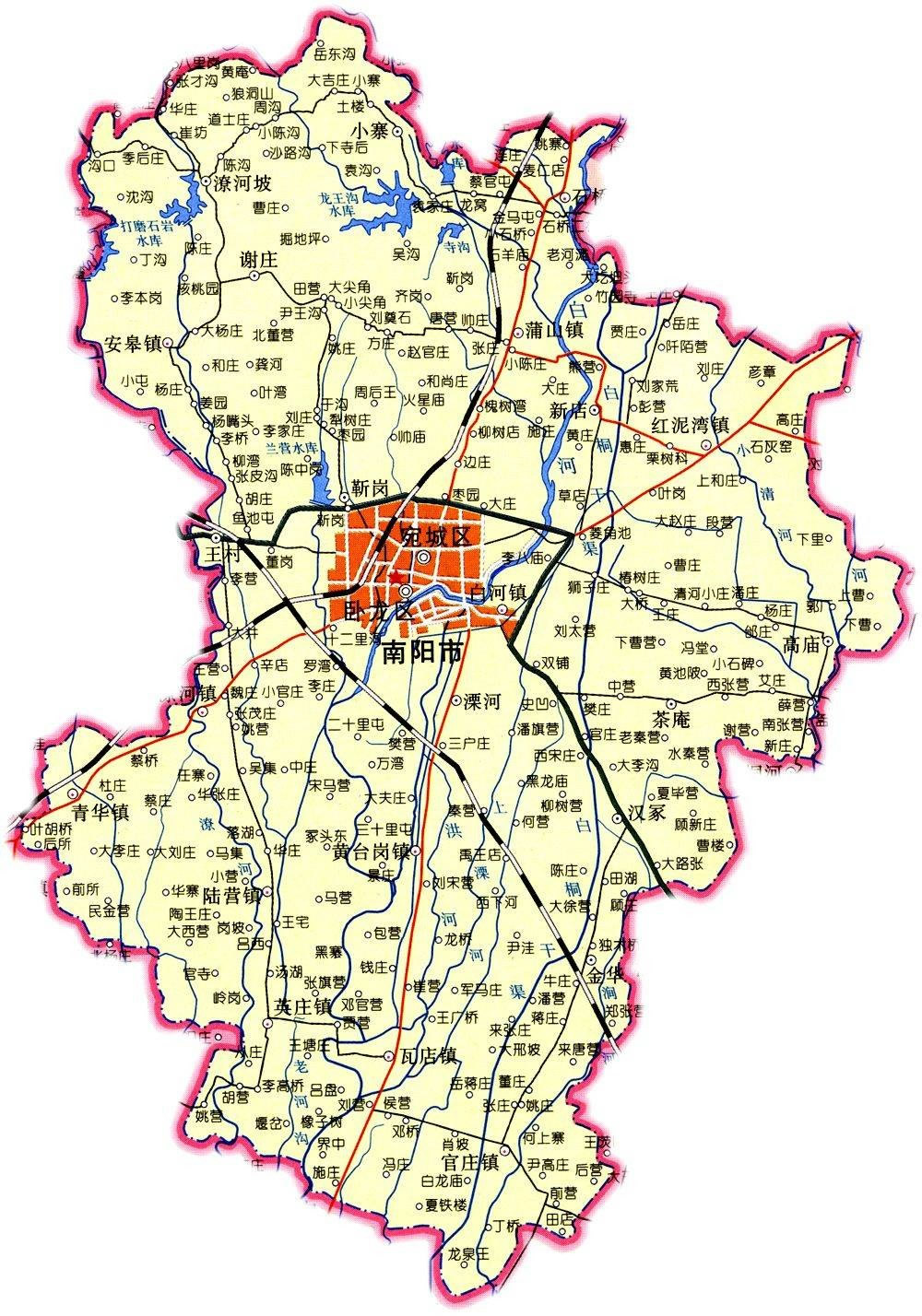 南阳市周边乡镇地图册 - 宛城区旅游局